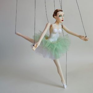 Little Green Ballet Dancer